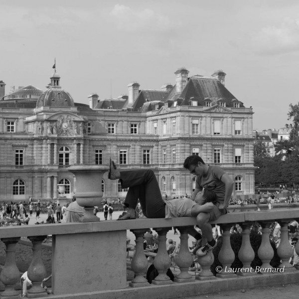 in the gardens of the Palais du Luxembourg, in Paris.
