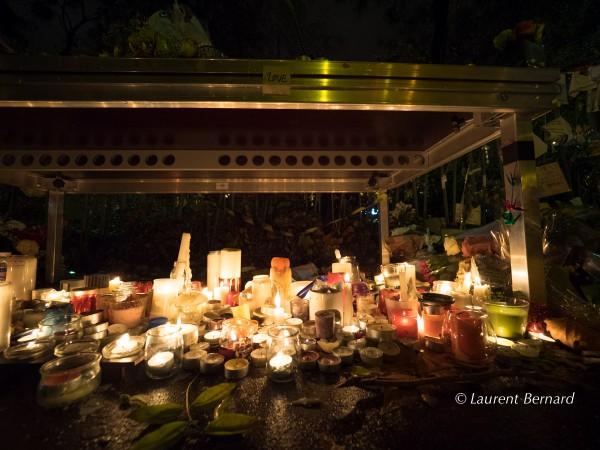 Mémorial, en face du Bataclan